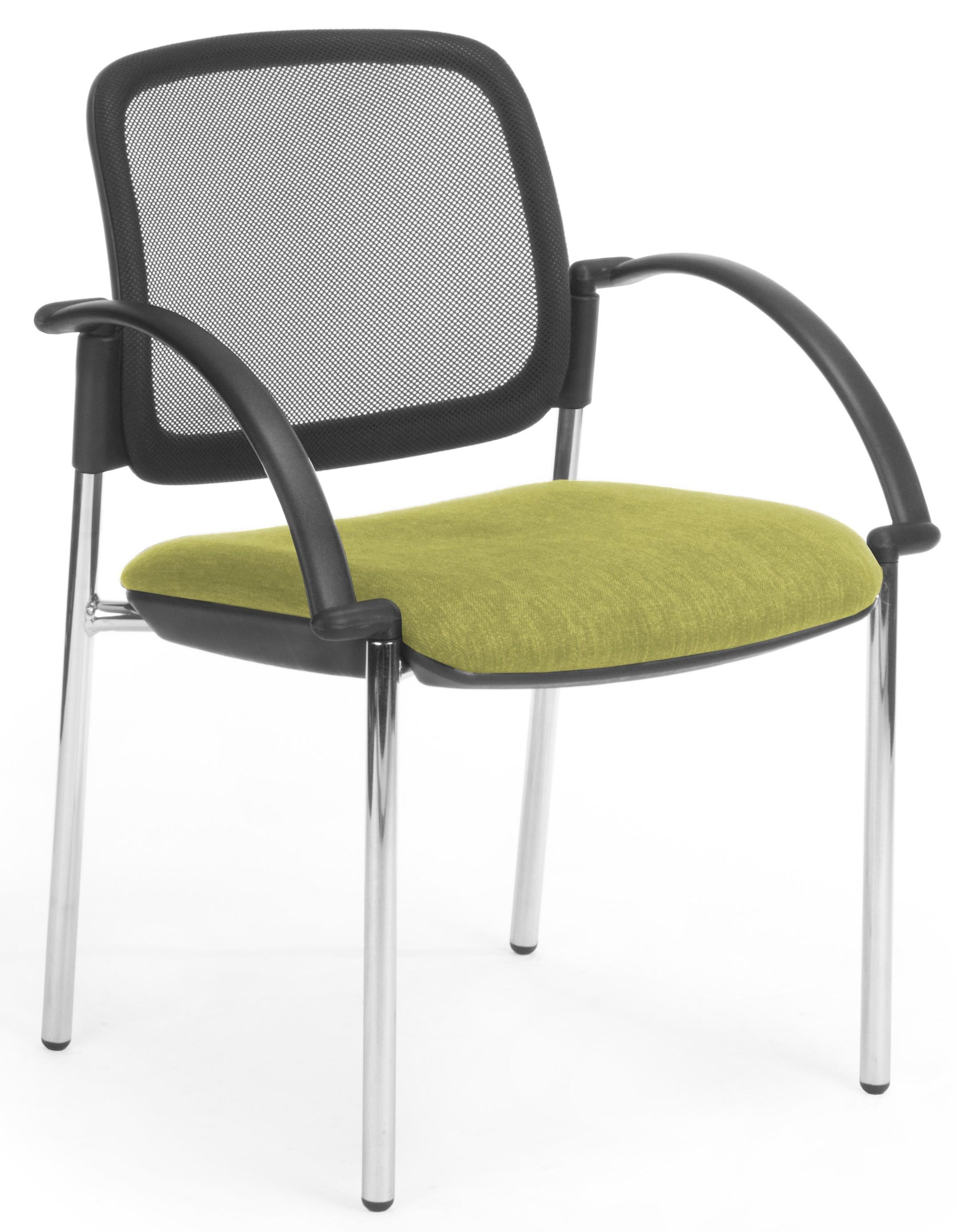 venice mesh 4 leg chrome frame with arms office furniture desk