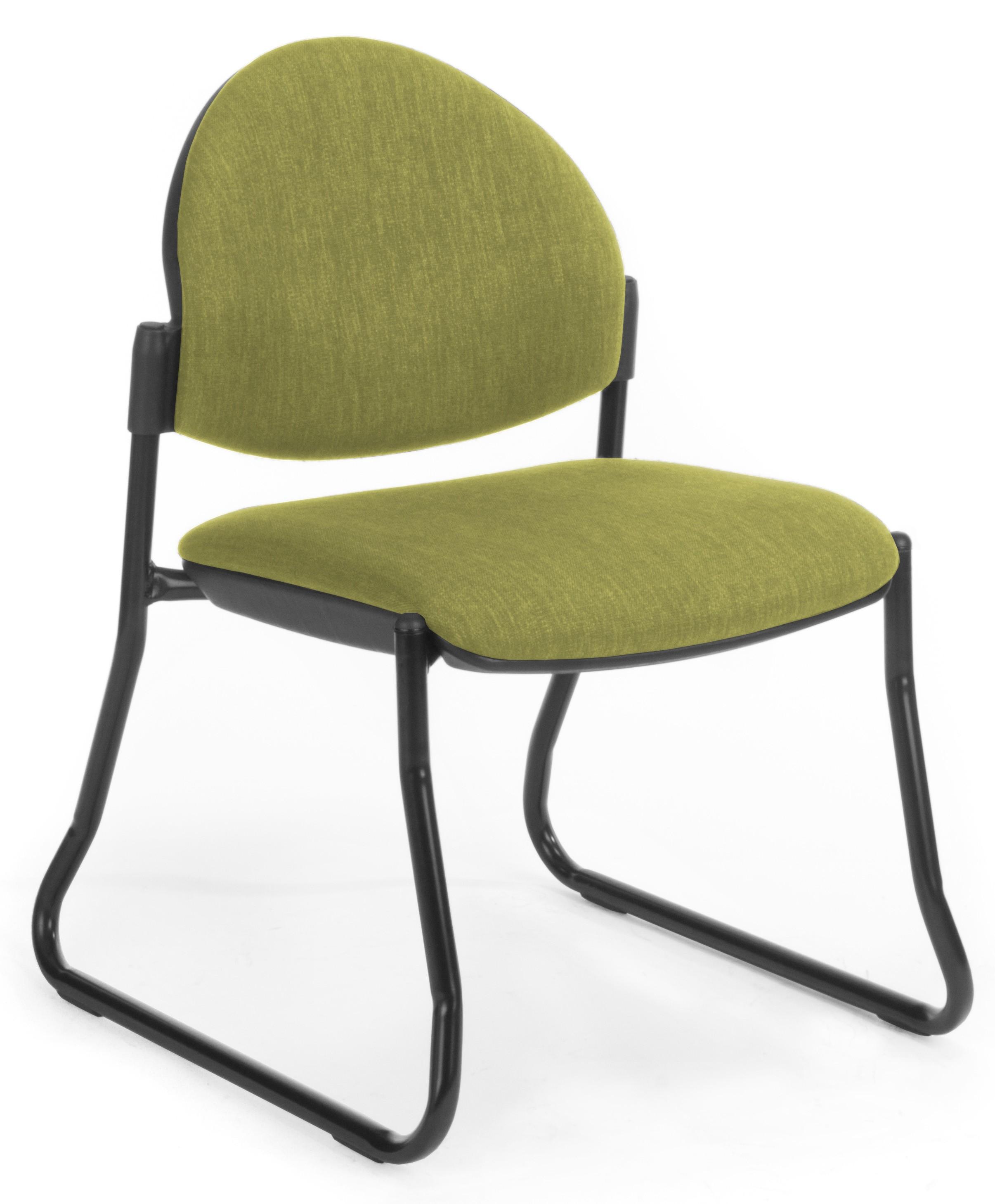Venice Sled Black Frame Office Furniture Desk Chairs