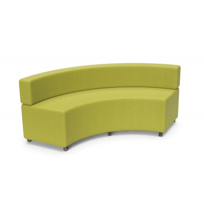 Flow Curve With Back: Modular Soft Seating